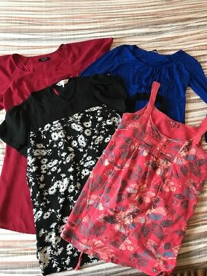 Bundle Of Maternity Pregnancy Summer Work Red Herring New Look Tops Size 10
