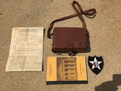 Original WW1 US Army Telegraph Key Service Buzzerin Case w/ Strap & Patch, Docs