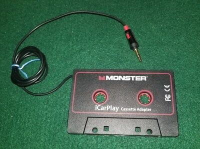 Monster iCarPlay 800 Cassette Tape Adapter for Car for iPod iPhone Android Black