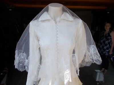 Vintage wedding dress and veil by Kenneth Cross Newcastle