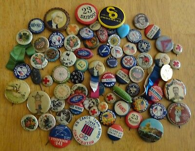Pinback Button Stud Political Advertising Baseball Religious Misc. GROUP