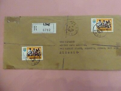 Togo Republic, Lome Registered Cover from 8th December 1977 addressed to UK