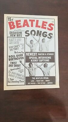 1964 Beatles Songs A Charlton Publication 15 cent edition