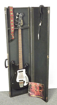 Black Vintage 60's Hagstrom Futurama  Bass & Hanging Hard Case