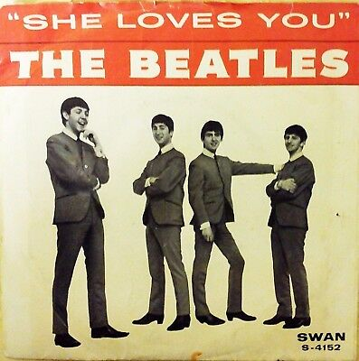The Beatles She Loves You - Rare Swan Vinyl Picture Sleeve - Bids No Reserve -
