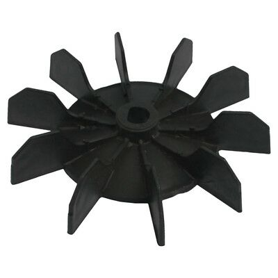 """Replacement 0.5"""" Inner Bore 10 Impeller Air Compressor Motor Fan Blade Black fpy"""