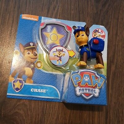 Paw Patrol Action Pack Pup Chase & Badge Figure Kids Boys Collectable Toy Age 3+