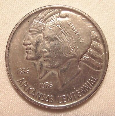 USA ★★★ 1/2 Dollar 1937 ★★★ 100 th Anniversary of the Statehood of Arkansas  116