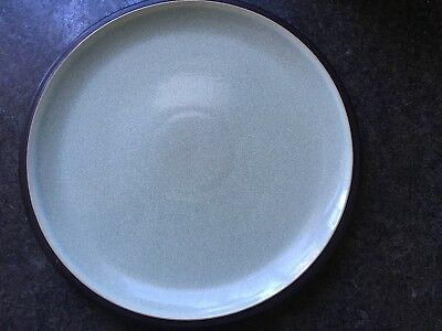 Denby Energy Celadon Green and Charcoal Dinner Plate