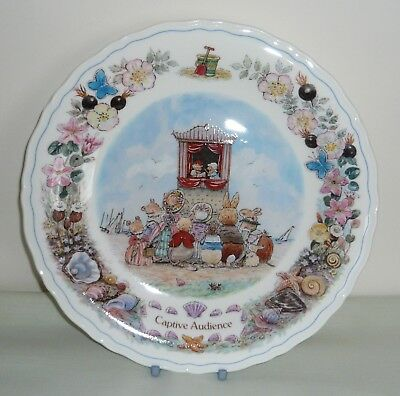 "Wedgwood Foxwood at Sea ""Captive Audience""  8½"" Plate ~ Punch & Judy Show"