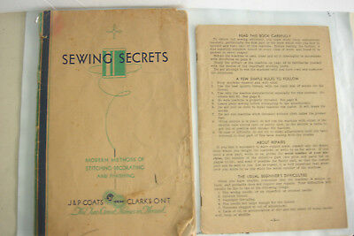 VTG Sewing Secrets Spool Cotton Co Instruction Operation Manual Sew Machine Book