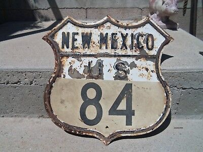 1950 Vintage U. S. Shield New Mexico Highway Road Sign #84
