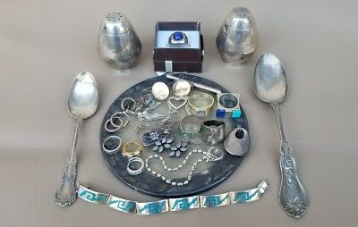 Lot of sterling silver jewelry & others