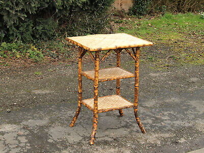 ANTIQUE BAMBOO THREE TIER TABLE  ; South Lincolnshire