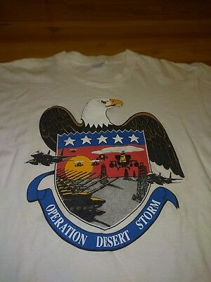 desert storm shirt vintage size large helicopter tank iraq military army navy