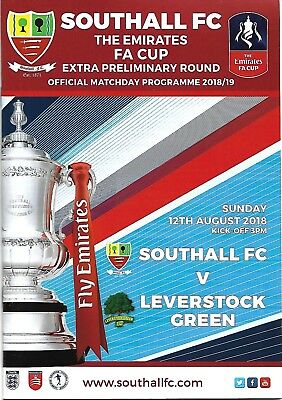 2018-19   Southall v Leverstock Green  FA Cup programme
