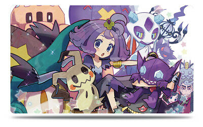 Pokemon Custom Playmat Sun & Moon Acerola Mimikyu Sableye Dark Trainer Play Mat