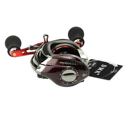 12BB 6.3:1 Right Hand Bait Casting Fishing Reel Bearings + High Speed Red M3Y2