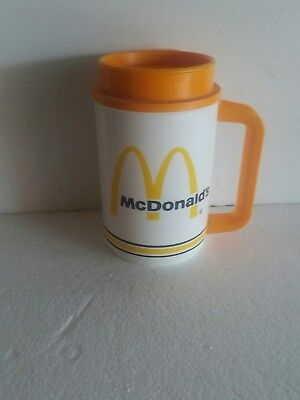 McDONALDS Whirley TRAVEL Plastic COFFEE mug CUP-22 ounce.