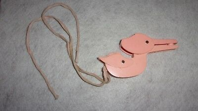 Vintage Mid Century Flying Stork Pacifier Holder for Baby 1940s 1950s