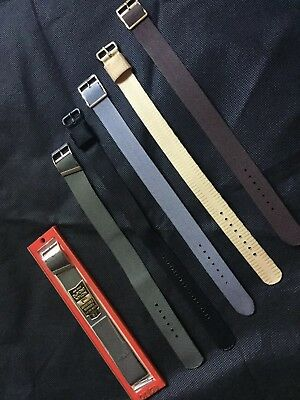 Vintage Lot Of 6 Nato Watch Band Strap , LNOS. 18mm, 20mm.