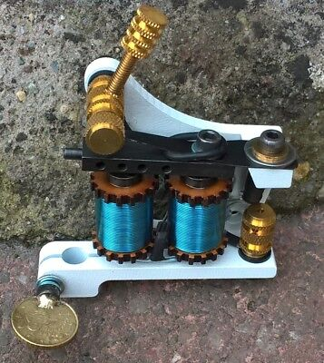 Border Tattoo Machine,colour Packer Custom Iron Frame Custom Blue 10 Layer Coils
