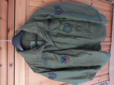 US AIr Force M65 Org. Fieldjacket OD Green Medium Regular 1980s rare