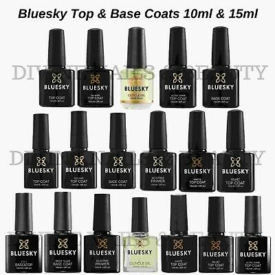 Bluesky Gel Polish POPULAR Top Base Coat Hard Gel No Wipe Top Coat Nail Polish