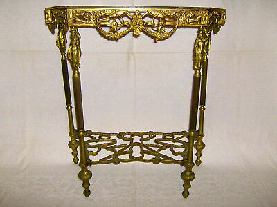 Antique french  beautiful  bronze console table. 13 kg.