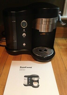 SunCana Single Serve Pod Brewer Coffee Maker Removable Water Tank Black H701A