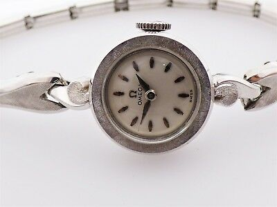 Omega Ladies 14K White Gold Antique Vintage Watch