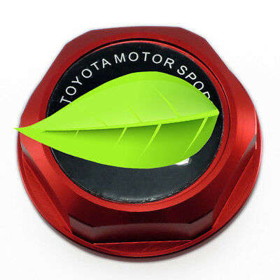 New TRD Engine Oil Fuel Filler Tank Cap Intake Cover For LEXUS SCION TOYOT RED