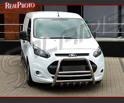 Ford Transit Connect 2012+ High Bull Bar, Nudge Bar, A Bar  / Stainless Steel