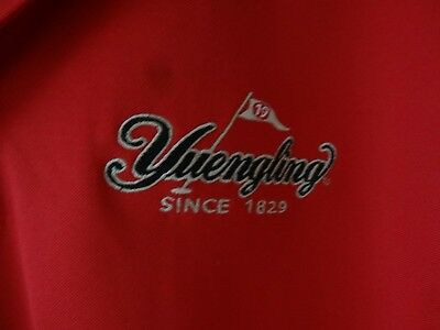 Red Short Sleeve YUENGLING T-Shirt XL Dry Fit Collared Polo Shirt Golfing Golfer