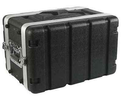 Shallow 6U Space Rack Case, 8 inch Deep Shell, Amp Effects ABS w rack screws