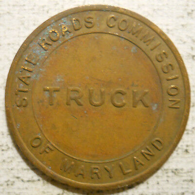 Maryland State Roads Commission - Truck official transit token - MD670F