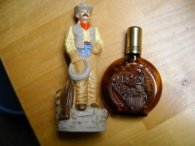 Vintage Coty Stetson Cowboy Figure Air Freshner And Bottle