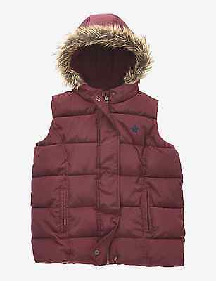 M&S Kids Girls Hooded & Padded Thermal Gilet 5-6 Years BNWT