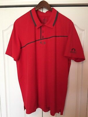 977d19d5b3 Oakley Golf Polo Shirt -Mens Extra Large-Xl -Solid Red gray -