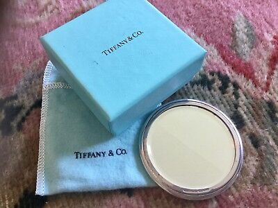 Vintage Tiffany & Co sterling with beveled mirror with pouch & box