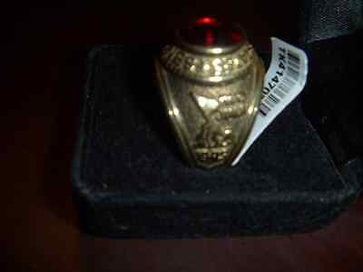 U.s. Marine Corps Ring , Red Stone, Size 12--**free Domestic Shipping**