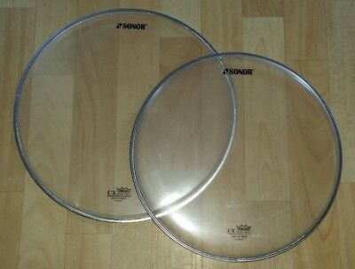 """Sonor Remo UX Fell Set 12"""" 13"""" Clear 1 lagig"""