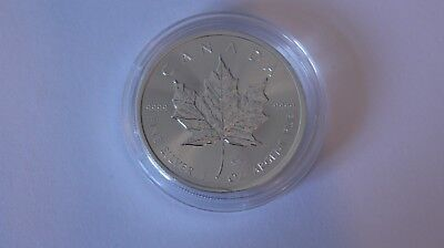 2016 Silver 1 oz Canadian Maple Leaf Fine 9999 $5 Five Dollars Coin