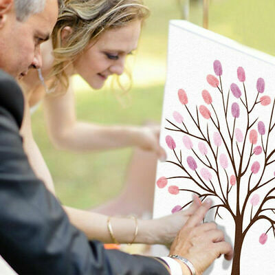 Thumb Print Fingerprint Tree Wedding Guest Book Guestbook Alternative Memory