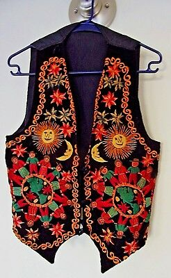 Beautiful Hmong-Southeast Asian Inspired Embroided Jacket-Vest, 3 Button