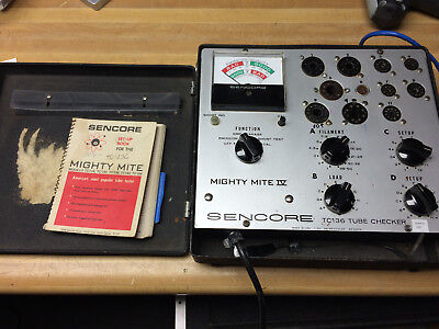 Sencore TC-130 Mighty Mite III Emission Tube Tester with book
