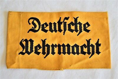 WWII German armband Deutsche Wehrmacht German Army Helper arm band