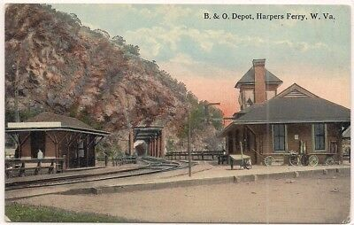 Harpers Ferry W V West Virginia Jefferson County Postcard