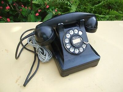 Vintage pre-war Western Electric 302 telephone, 5H dial, base dated 1938