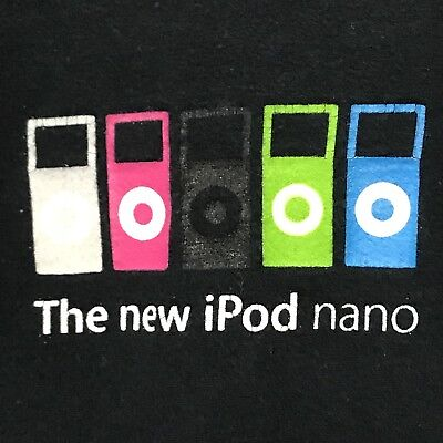 Apple New Ipod Nano 2nd Gen Completely Remastered Launch Promo Employee TShirt M